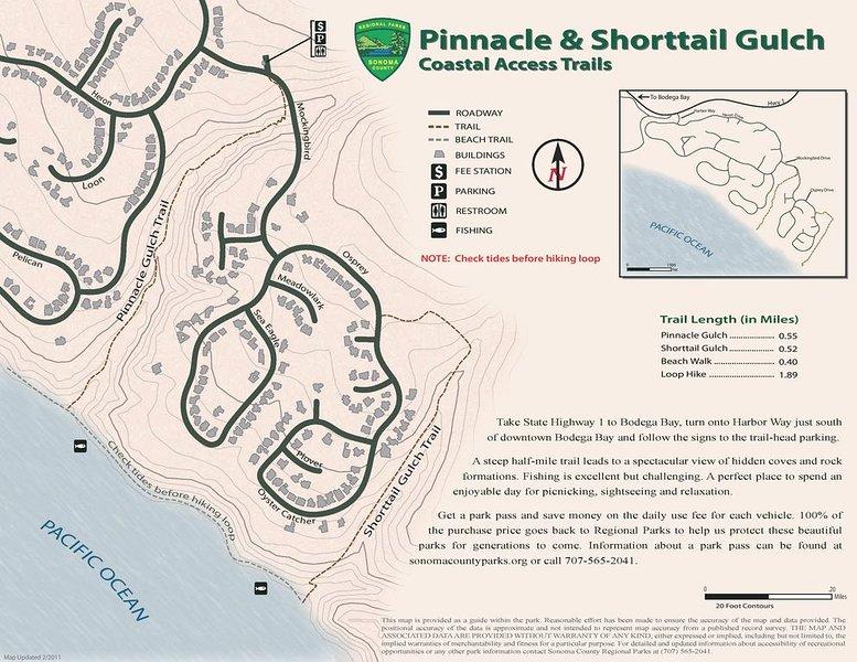 Shorttail Gulch est à quelques pas de la maison et donne accès à la plage