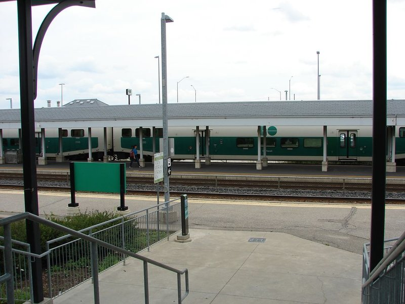 Estação de trem GO para o centro de Toronto
