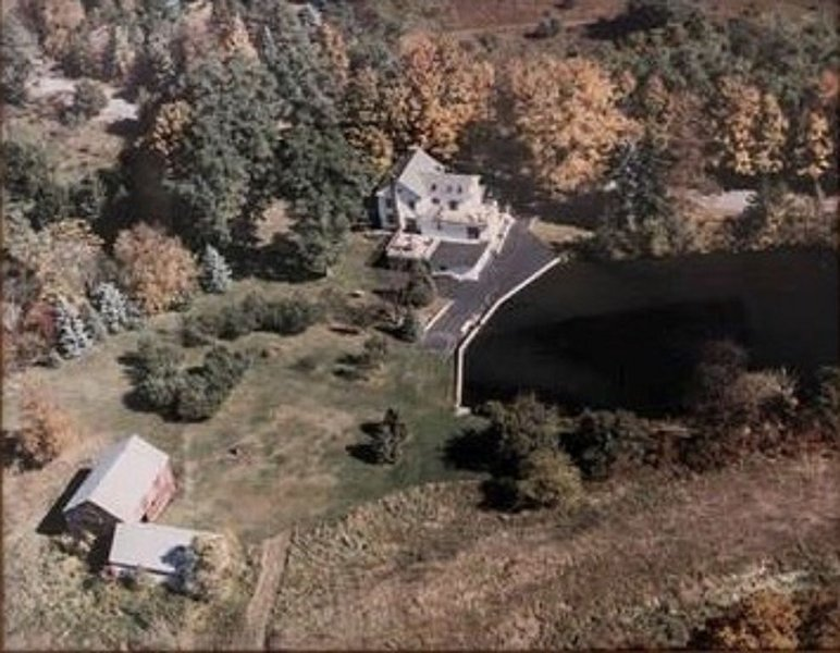Birds eye view of the Mandeville Manor property.