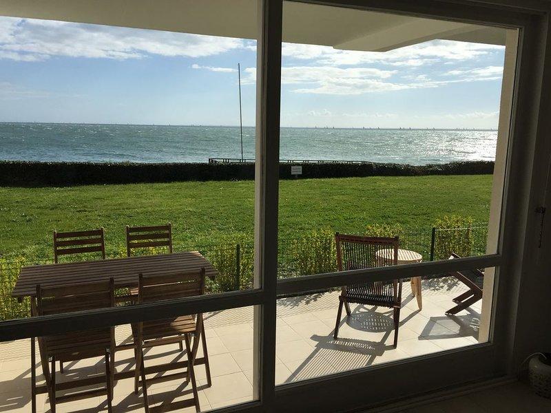 appartement face à la plage de Port Navalo, vue mer, location de vacances à Arzon