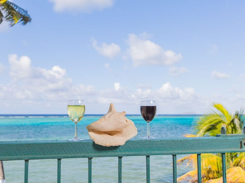 Beautiful condo ON THE BEACH. Enjoy amazing views and the cool ocean breeze., alquiler vacacional en Christiansted