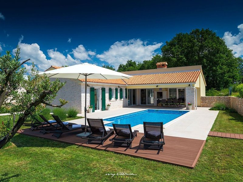 Beautiful Villa near Rabac with private pool, holiday rental in Ruzici
