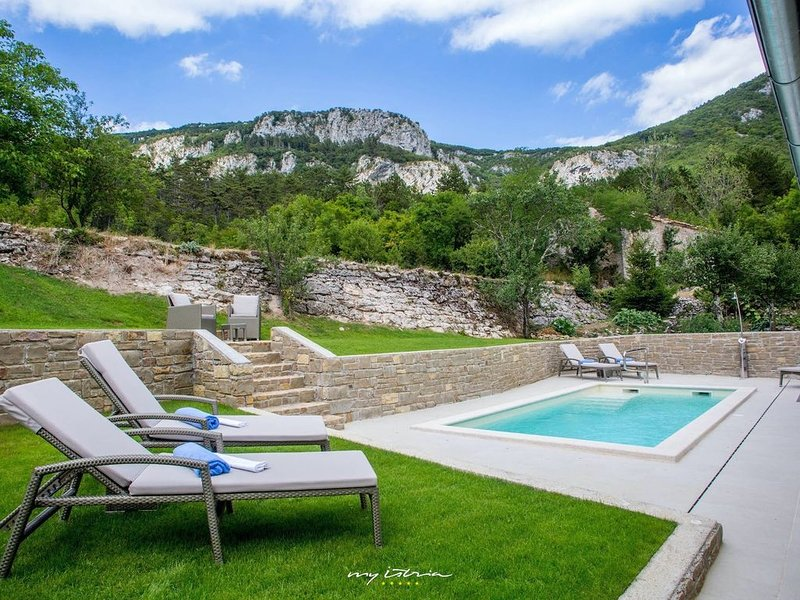 Beautiful villa with private pool and sauna, holiday rental in Pasjak