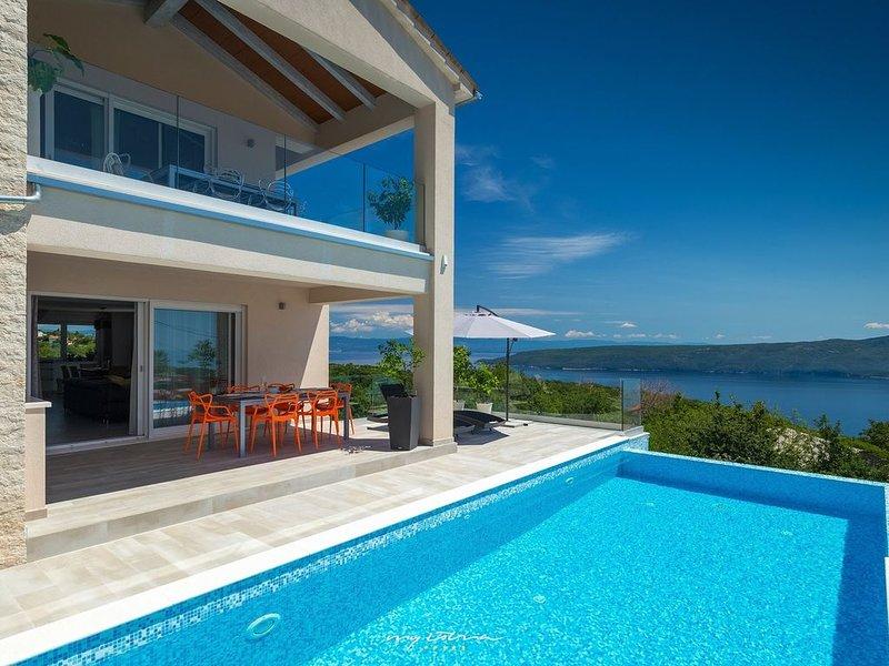 Fantastic villa with breathtaking sea view, holiday rental in Filozici