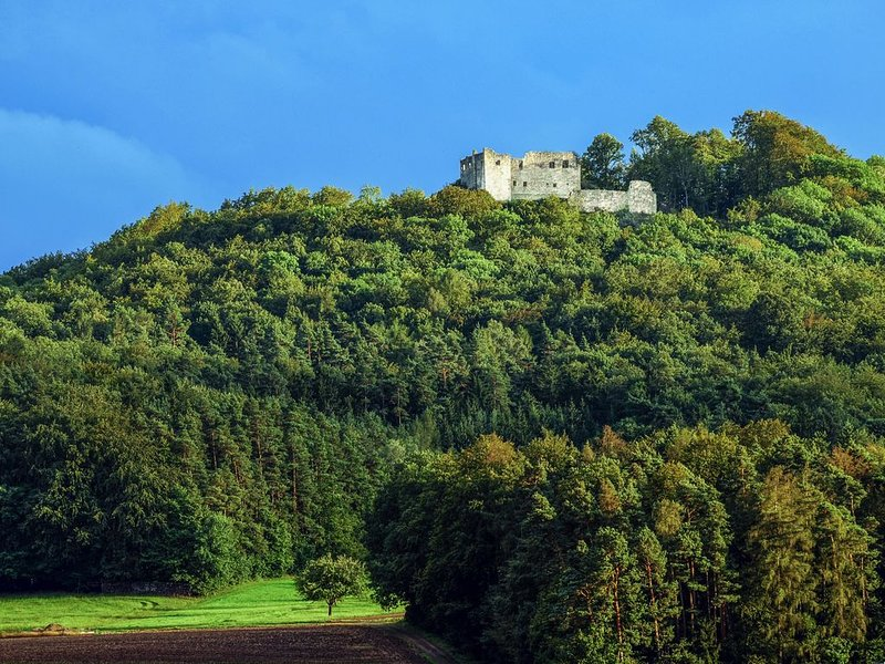 The Old Farmhouse (Burgpreppach) -The ruin Bramberg is only about 2Km. away from here and a very popular hiking destination with stunning views