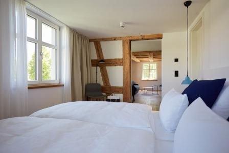 Apartment Aachblick, 47qm, 1 Schlafzimmer, 1 Wohn-/Schlafzimmer, max. 4 Personen, holiday rental in Neuhausen am Rheinfall