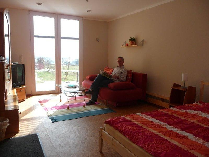 Ferienwohnung Kaltenhof 4-Zimmer - Sitzecke/Schlafcouch