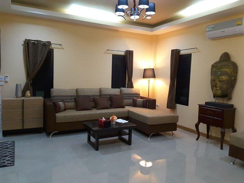 El salón con su chaise sofa