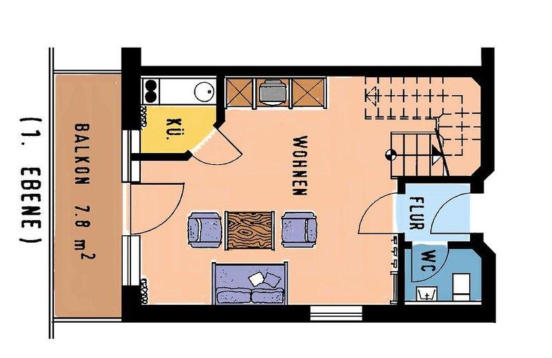 Dreizimmerappartement (73qm auf zwei Ebenen) mit liebevoller Einrichtung, holiday rental in Ruhstorf an der Rott