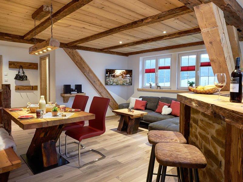 Ferienwohnung Talblick mit 80qm, 2 Schlafzimmer, max. 4 Personen, casa vacanza a Bubenbach