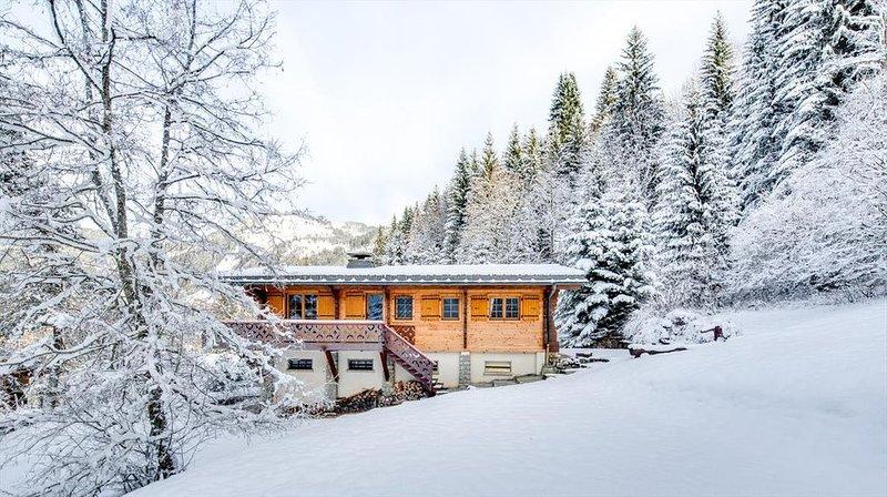 Chalet 10 pers - authentique savoyard avec poêle à bois, casa vacanza a Morgins