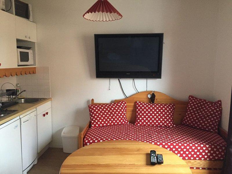 Studio pour 4 à 6 pers max - 30m² - Belle vue - Pied des pistes – Wifi, holiday rental in Risoul