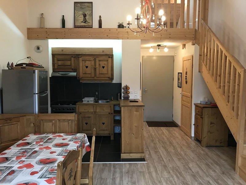 Confortable T2 Duplex wifi au pied des montagnes, holiday rental in Lascelle