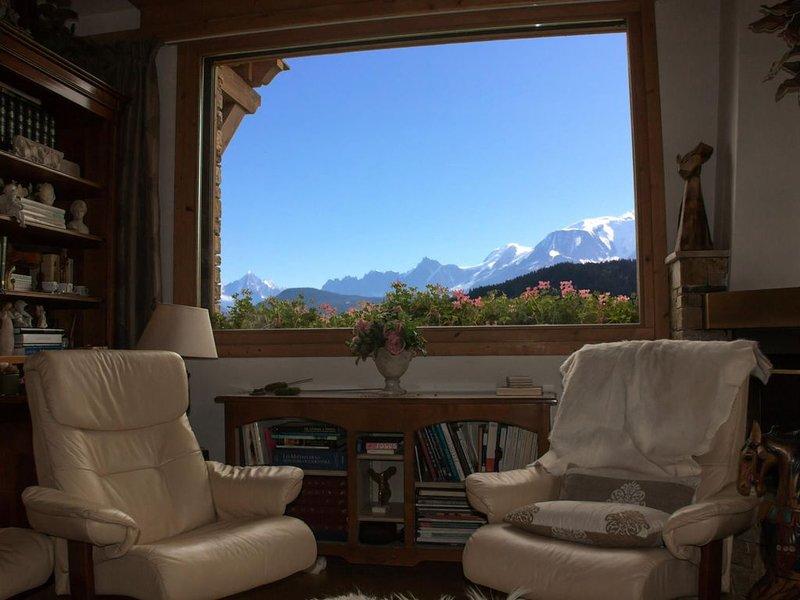 Chalet à Demi Quartier avec vue Mont-Blanc - Chalet 4 Pièces 6 personnes, holiday rental in Demi-Quartier