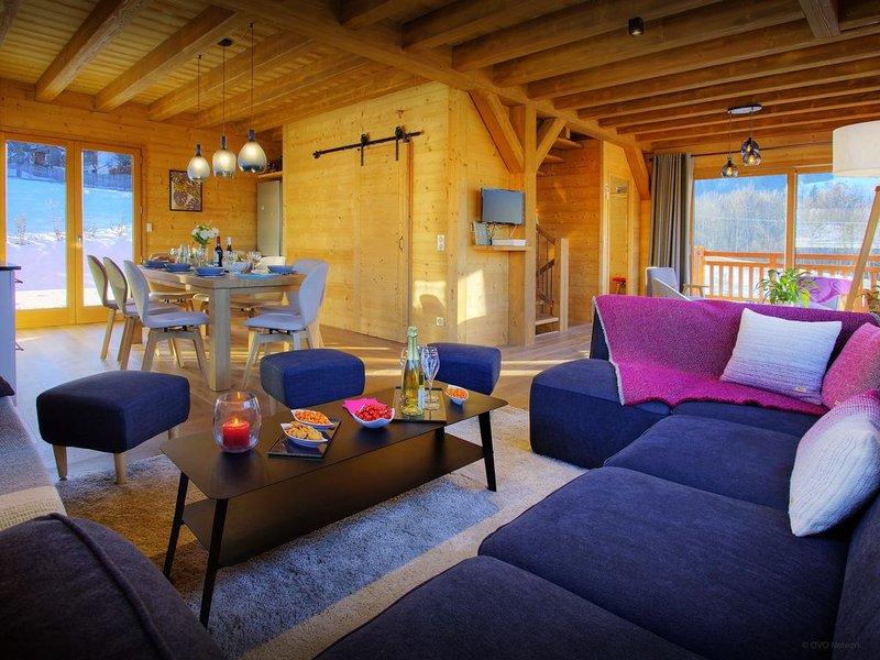 Élégant chalet à Valmorel pour 10 - sauna et terrasses - OVO Network, casa vacanza a Les Avanchers-Valmorel