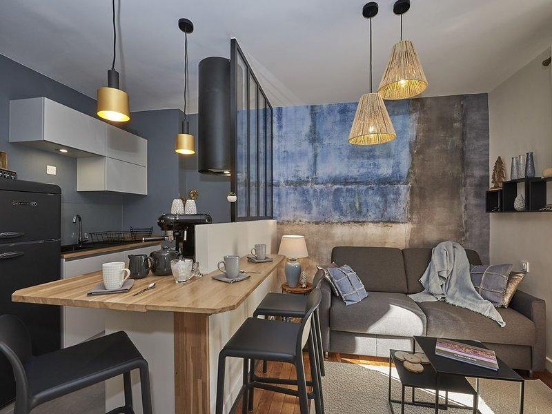 Superbe T2 avec terrasse❤️climatisé-magnifiquement décoré-calme #K6, vacation rental in Seyssins