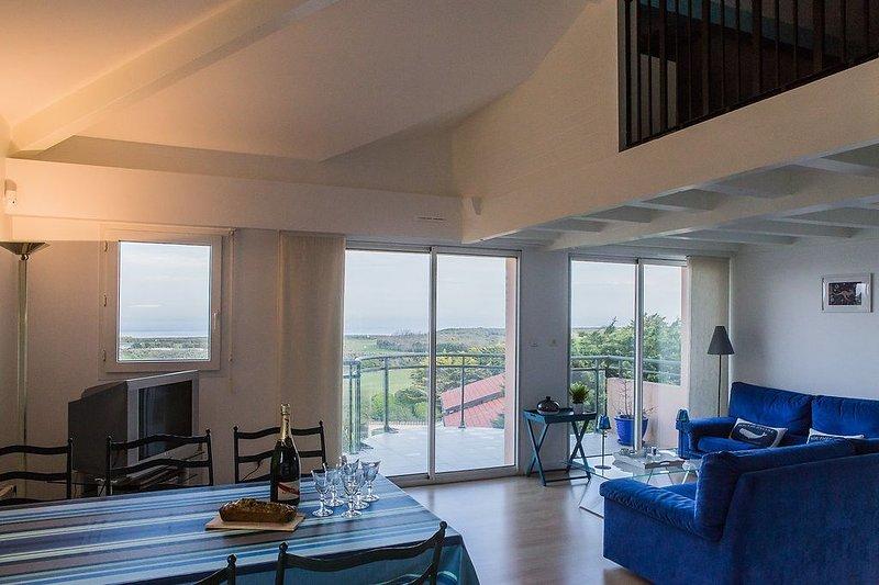 Anglet Chiberta⎜Mer et golf · Bel appartement vue mer · Terrasses · Parking, location de vacances à Anglet