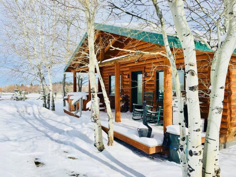 Breathtaking views in this cozy cabin.  Perfect for you and a friend or two, WiF, holiday rental in Red Lodge