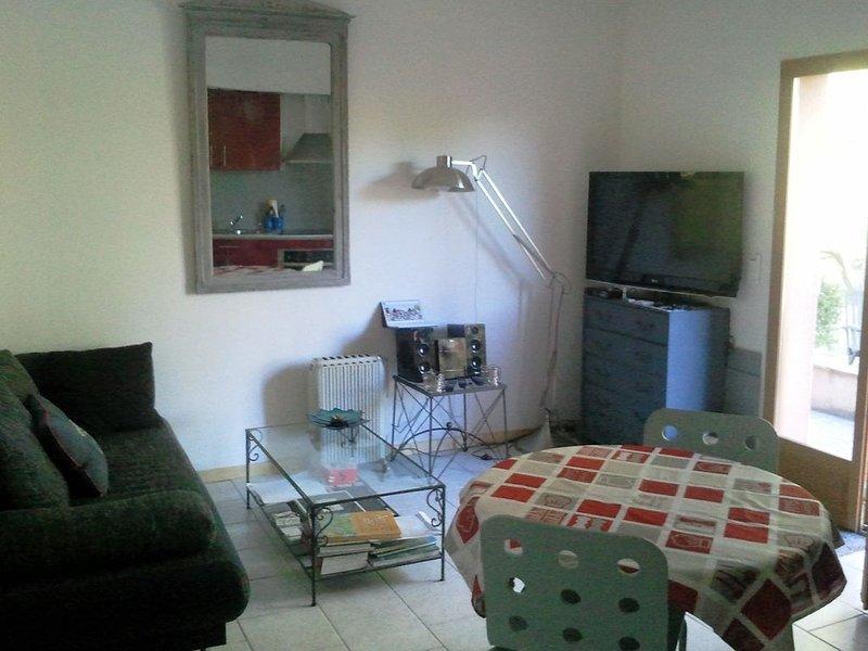 Appartement 50 mètres carrés avec piscine 5 minutes village et rivière., holiday rental in Cabasse