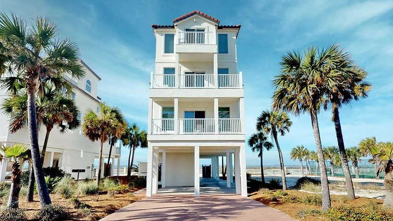 FREE BEACH GEAR! East End, Beach View, Elevator, Wi-Fi, 6BR/6.5BA 'Summer Breeze, vacation rental in Carrabelle