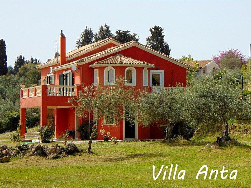 Classical Villa Anta near Ermones Beach, holiday rental in Temploni