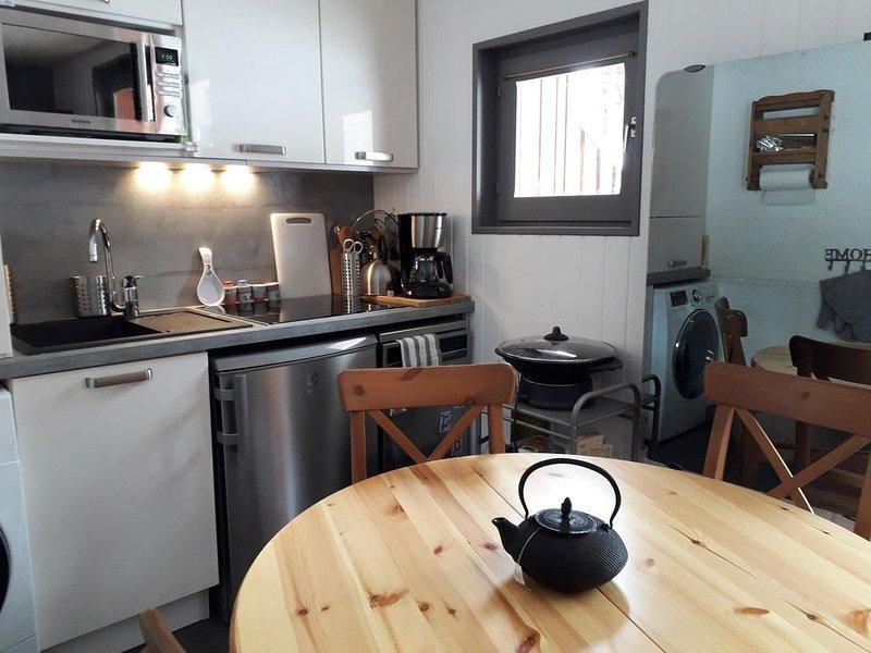 Appartement T1 rez-de-jardin, location de vacances à Valloire