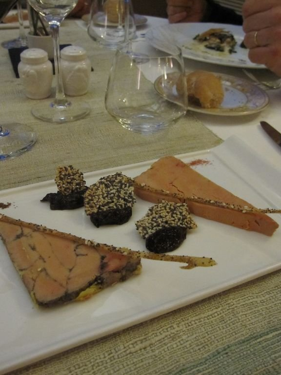 local gastronomy with foie gras
