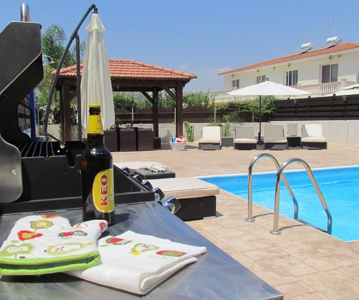 Luxury 5 Star Villa With Private Pool, holiday rental in Kornos