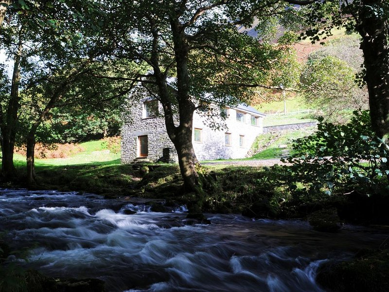 Converted Watermill With Beautiful River And Majestic Mountains On Its Doorstep, holiday rental in Corris