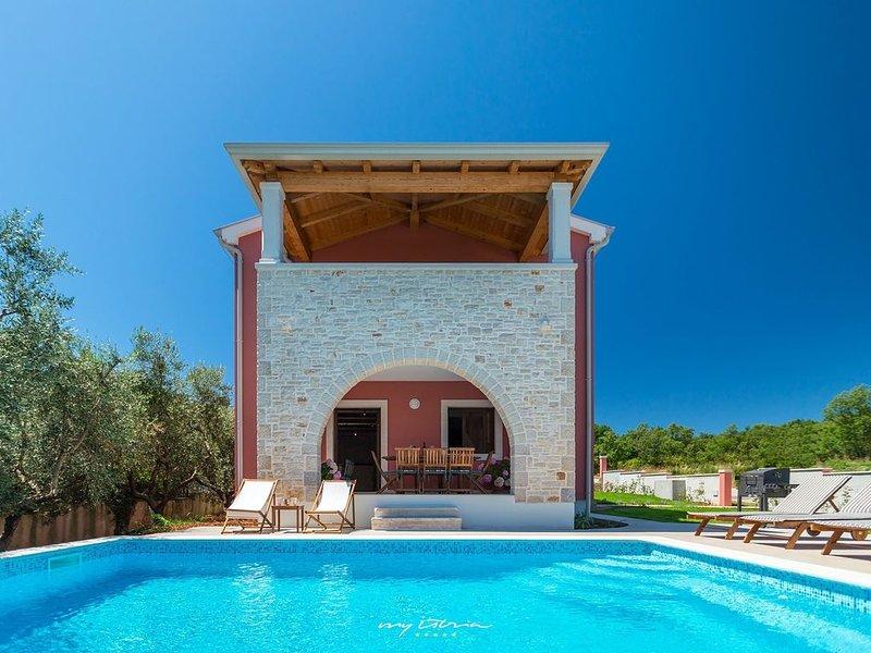 Beautiful villa with private pool in Porec, location de vacances à Varvari