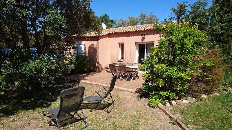 A Casarella, Agréable mini villa vue montagne, alquiler vacacional en Corse-du-Sud