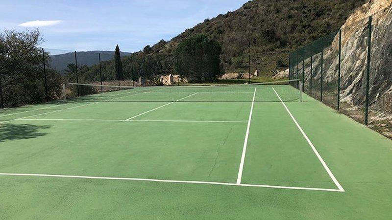 A new tennis court just metres away