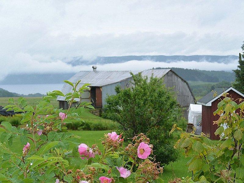 Vue du Fjord Saguenay  : Maison Champêtre du Fjord : #CITQ 135435, location de vacances à Saint-Fulgence