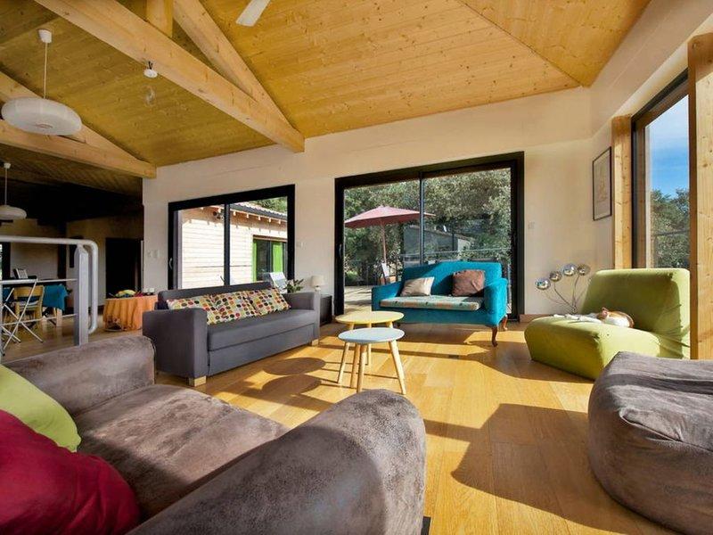 Maison d'architecte en bois écologique moderne., holiday rental in Brouzet-les-Quissac