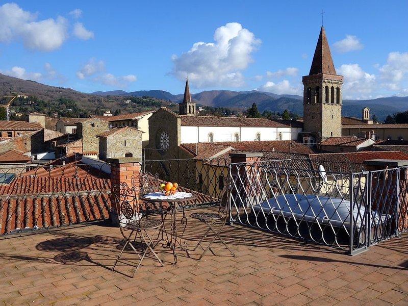 Torre Medioevale sul corso della città con vista sulla Cattedrale, aluguéis de temporada em Sansepolcro