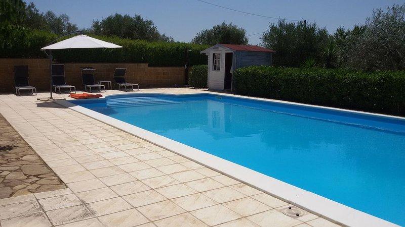 Nel Cuore della Sicilia Villa Del Noce, holiday rental in Mazzarino