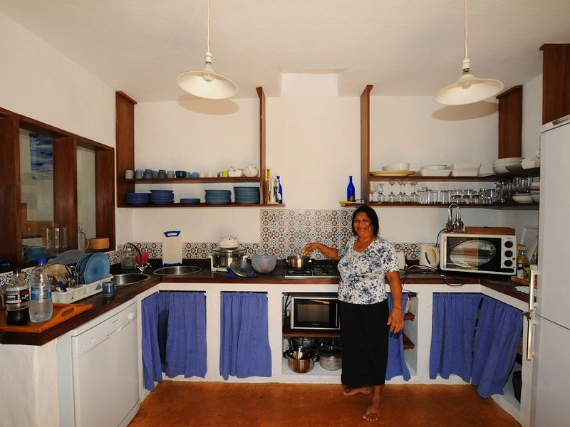 kitchen and housekeeper who is excellent cook!