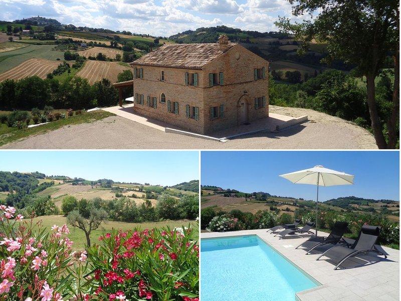 PRACHTIG VAKANTIEHUIS (6-8 personen) in het glooiende landschap van Le Marche, holiday rental in Montedinove