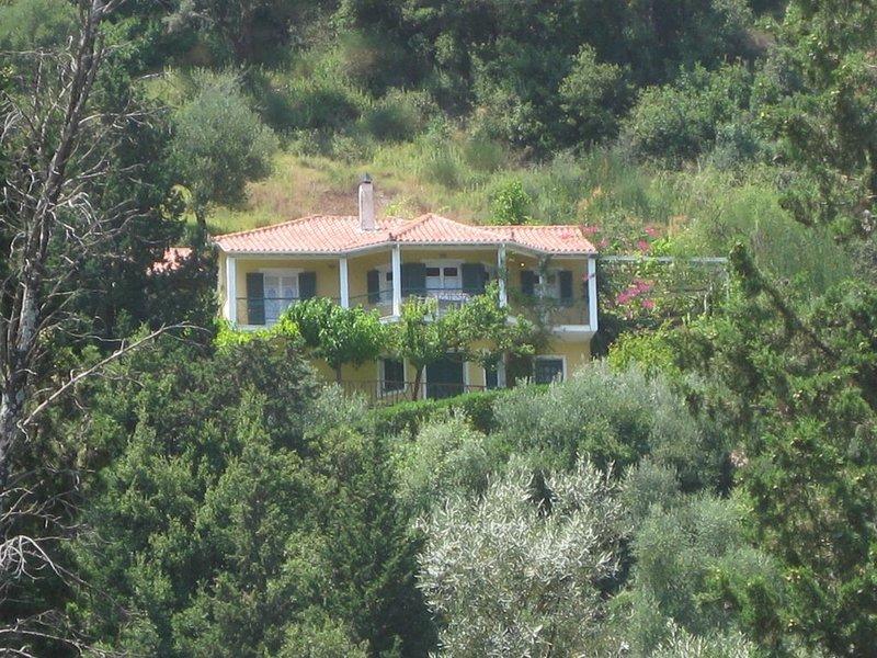 Meerblick von der Villa Elika, casa vacanza a Vafkeri