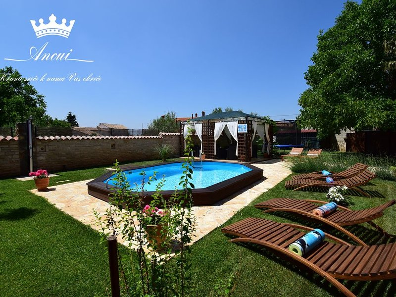 Family house with private pool, little paradise, alquiler vacacional en Jursici
