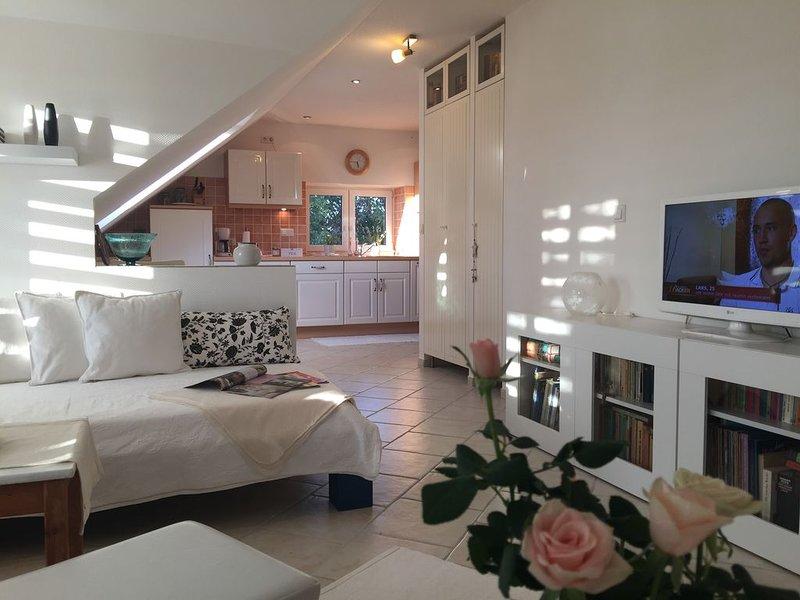 Komfortables Landhaus Apartment /Møn/Mön mit Terrasse, Garten, Hundefreundlich, location de vacances à Bogoe