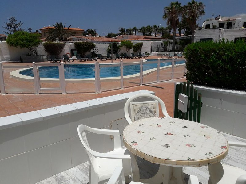 pool view terrace fully secure for children.