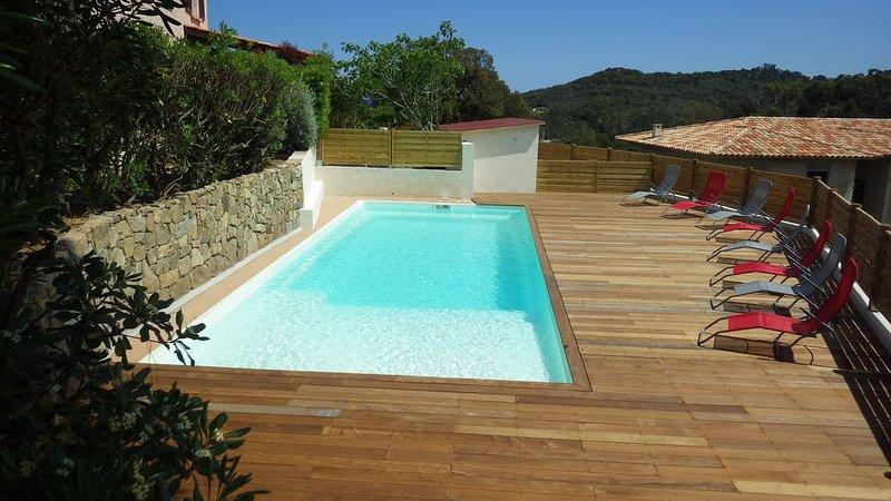 La Villa Faounzina N°5,  10 pers,  piscine, a 300 m de la plage, climatisation, location de vacances à Sari-Solenzara