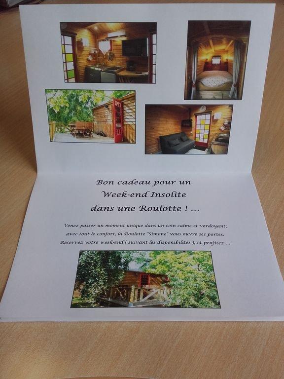 esempio di una carta regalo per un soggiorno con noi