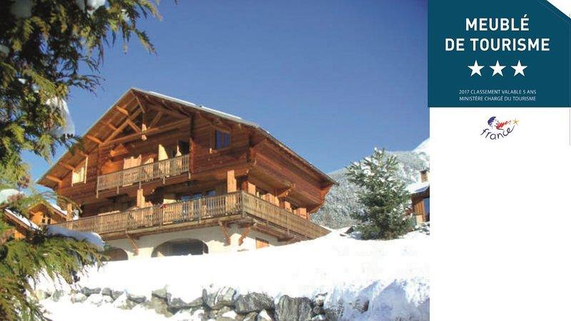 Grand chalet 12 couchages vue magnifique, holiday rental in Saint-Chaffrey