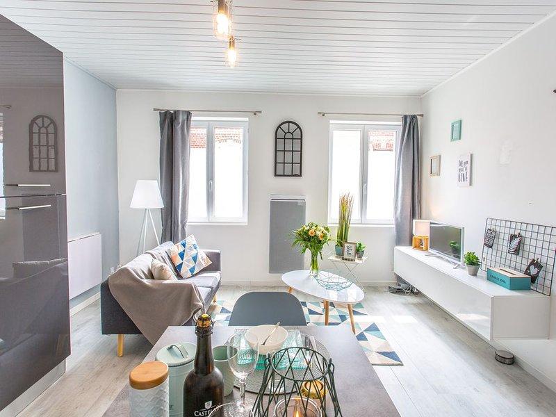 Picar'Appart(2) Suite Copenhague : Salon + chambre tout confort, location de vacances à Ribemont