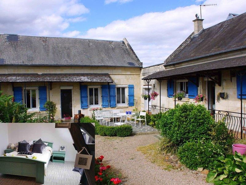 La Bretonnière, Longère Picarde, Chambre Emeraude, holiday rental in Chauny