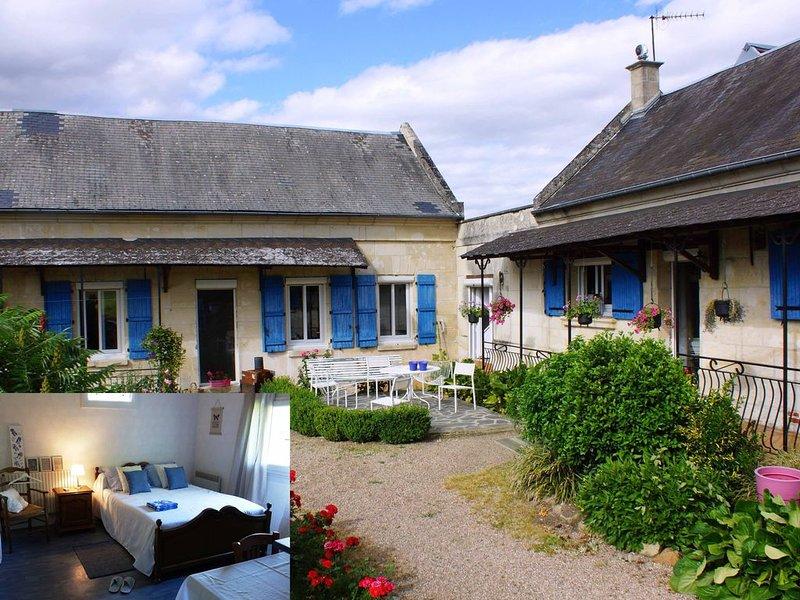La Bretonnière, Longère Picarde, Chambre Saphir, holiday rental in Chauny
