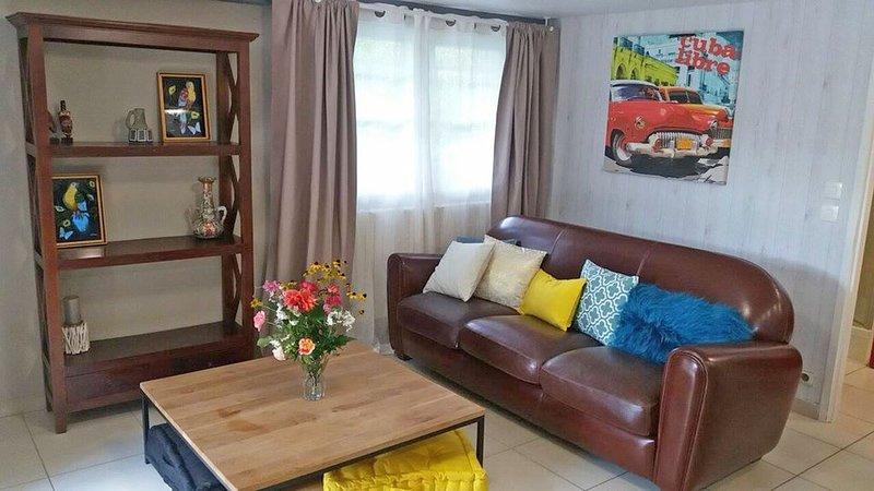 cosy appartement T1 avec beau jardin 20min. de Bordeaux, alquiler vacacional en Burdeos