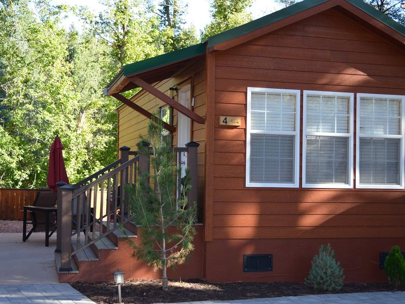 A one bedroom, one bathroom cabin overlooking Christopher Creek., holiday rental in Forest Lakes